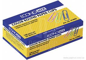Скріпка ECONOMIX кольорова 28 мм, 100шт., E41003