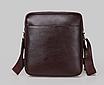 Чоловіча сумка барсетка шкіра Polo Feidika великого розміру Коричневий, фото 2