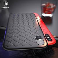 Чехол Baseus iPhone X Weaving Black