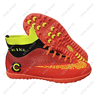 Футбольные бампы (сороконожки) Nike Mercurial Orange, р. 36-41