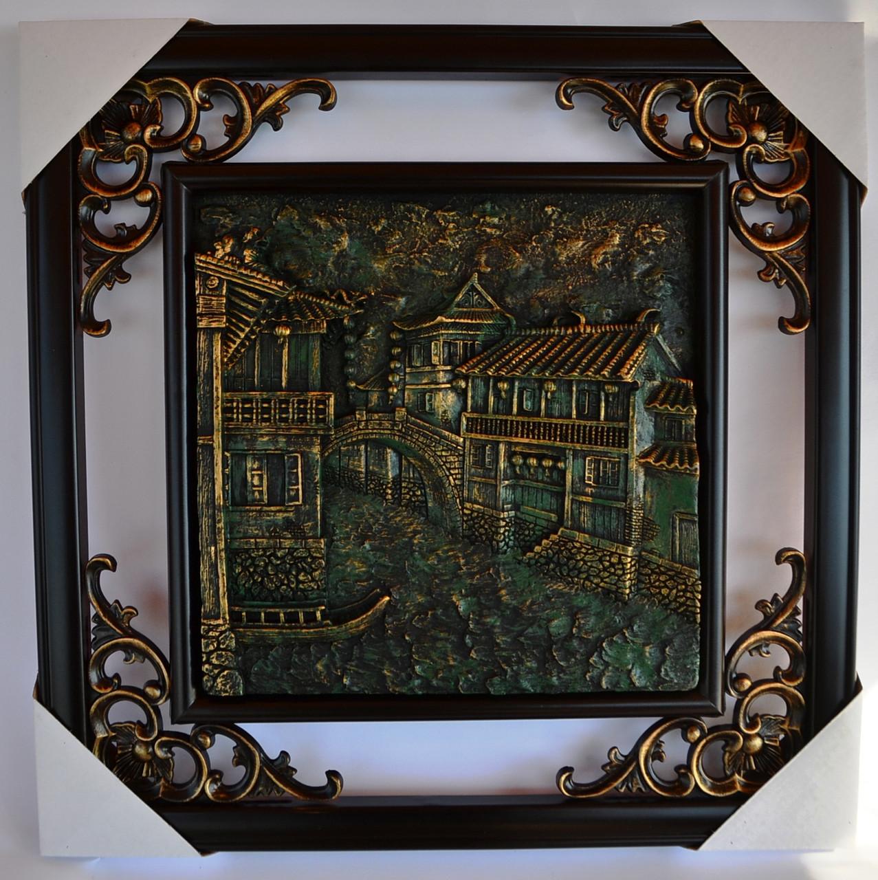 Картина чеканка керамическая №2