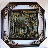 Картина чеканка керамическая №3