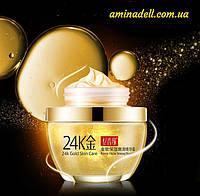 Крем для лица с коллоидным золотом и коллагеном 24K Gold & Collagen Skin Care Cream 50ml, фото 1