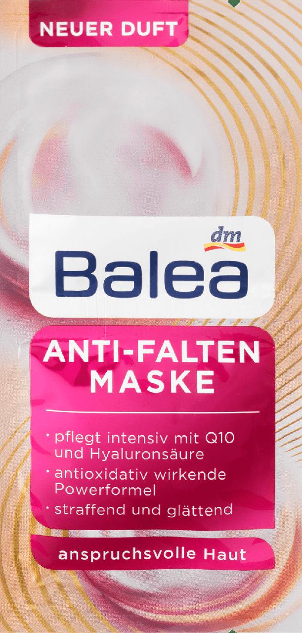Маска против морщин Balea Anti-Falten Maske, 2st. х 8 ml.