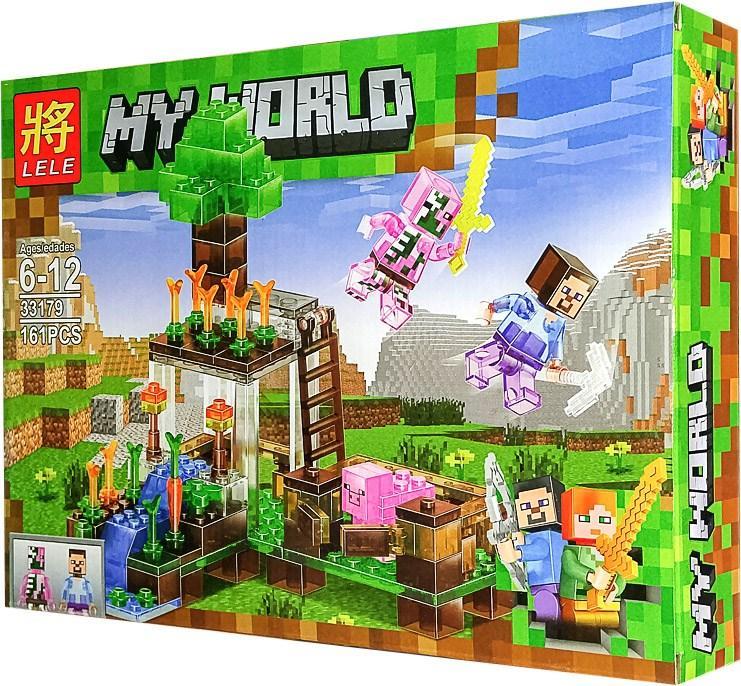 "Конструктор Майнкрафт (Lele Minecraft 33179) ""Нападение на ферму"", 161 дет."