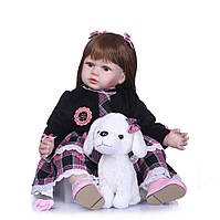 Кукла Реборн Николь, с мягконабивным телом 60 см