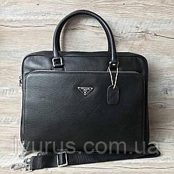 Мужская кожаная сумка портфель  Prada