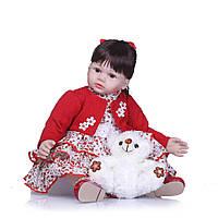 Кукла Реборн Даниэла, с мягконабивным телом 60 см