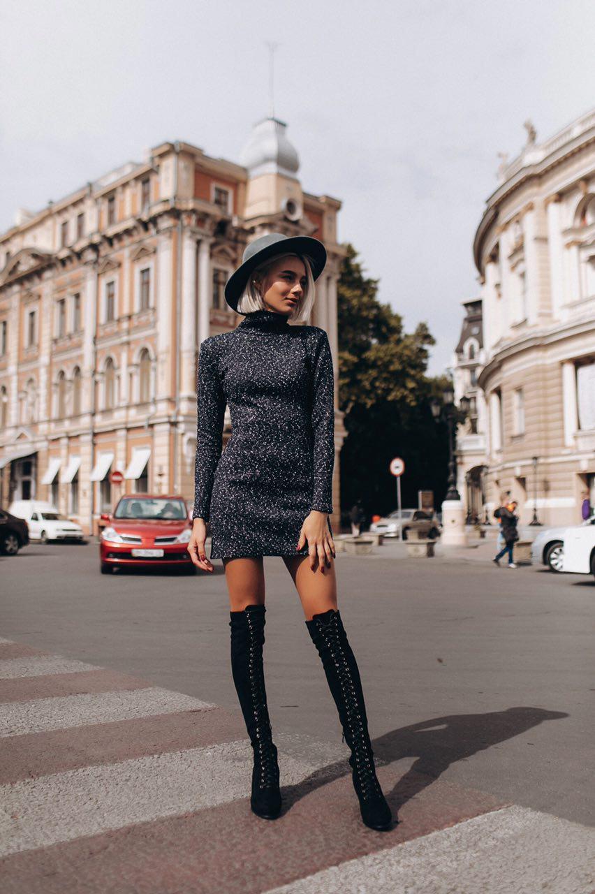 2b49f9e60d2 Женское теплое платье ED-59 - «Riccardo» - мультибрендовый интернет-магазин  одежды