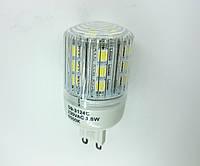 Светодиодная лампа G9 3,8W прозрачная в пластиковом корпусе 220В