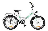 """Велосипед складной 20"""" Formula SMART с фонарём 2018 (бело-зелен.)"""