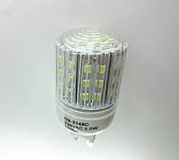 Светодиодная лампа G9 3W прозрачная в пластиковом корпусе 220В , фото 1