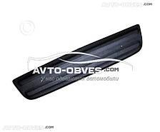 Накладка на решетку радиатора зимняя для Рено Трафик нижняя матовый вариант