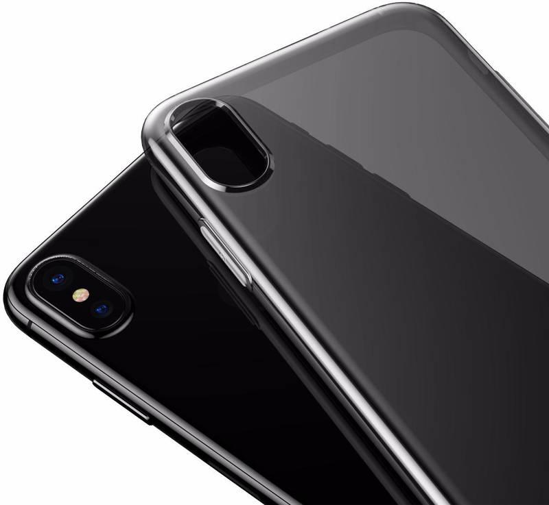 Чехол Baseus Simple iPhone X Transp Black
