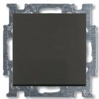 Выключатель-переключатель одноклавишный, черный-шато, Basic55