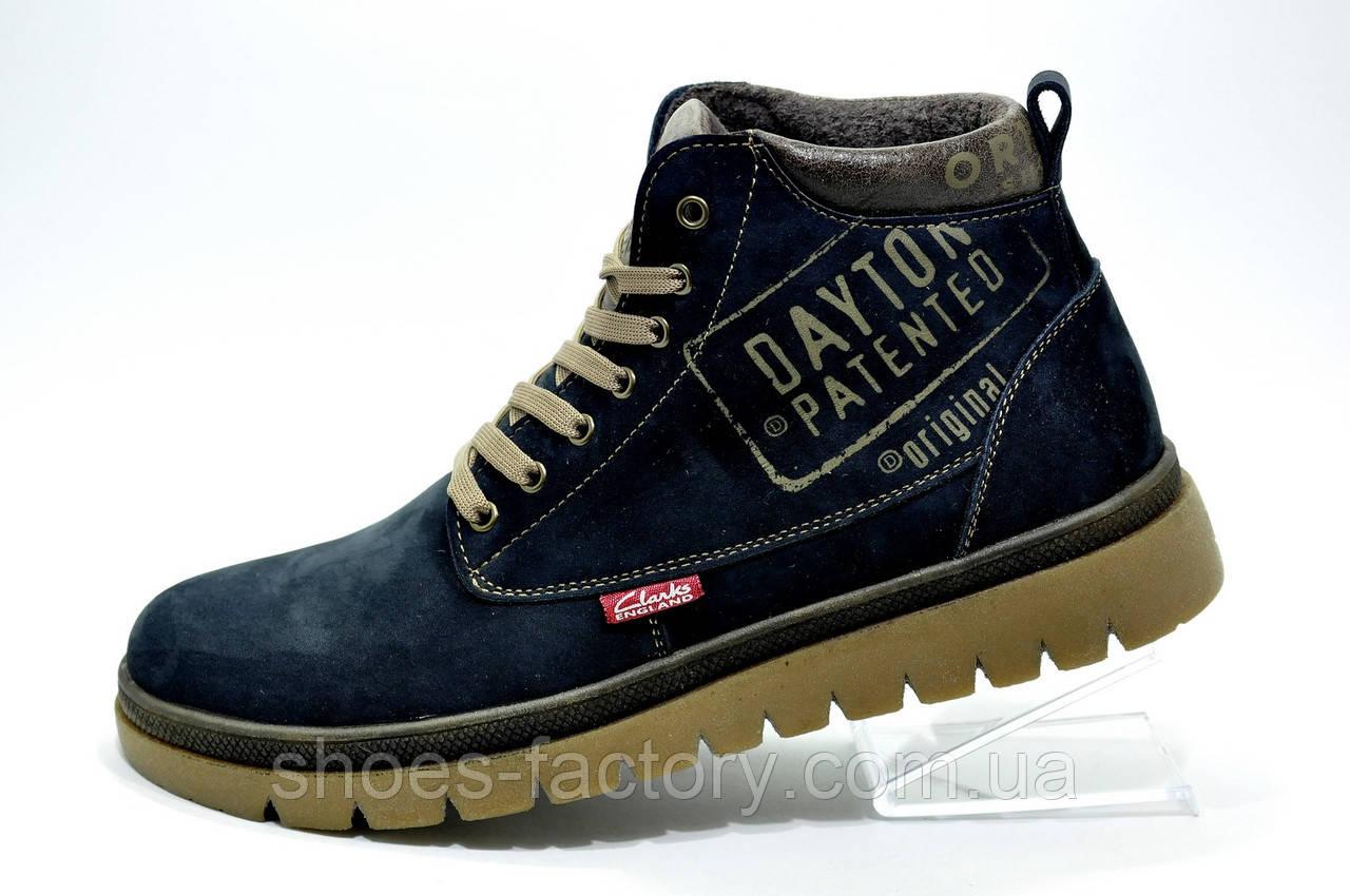 Зимние кожаные ботинки Clarks, на меху