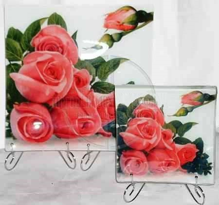"""Набор стеклянных тарелок """"Микс"""" 7 предметов"""