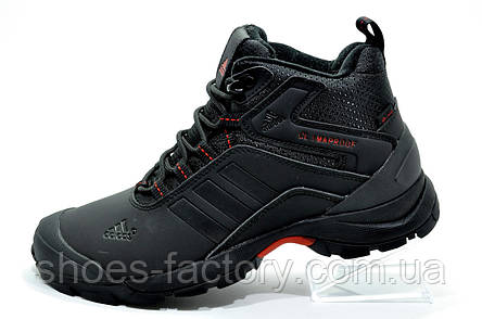 Зимние кроссовки в стиле Adidas Climaproof, мужские на меху Black\Red, фото 2