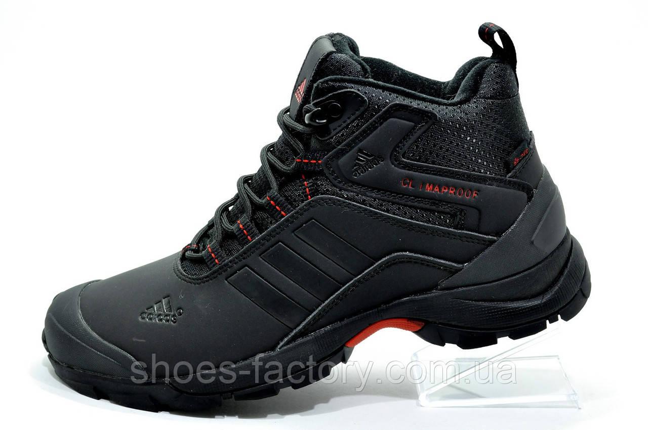 Зимние кроссовки в стиле Adidas Climaproof, мужские на меху Black\Red