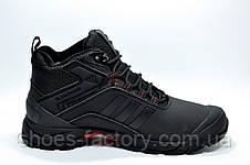 Зимние кроссовки в стиле Adidas Climaproof, мужские на меху Black\Red, фото 3