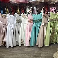 """Атласное бальное платье с вышивкой  """"Стефания-2"""", фото 1"""