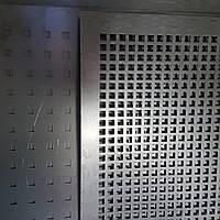 Перфорированный Лист , чёрный металл, толщина 0.8, ячейка 8х8 мм. (шаг 12 мм.)