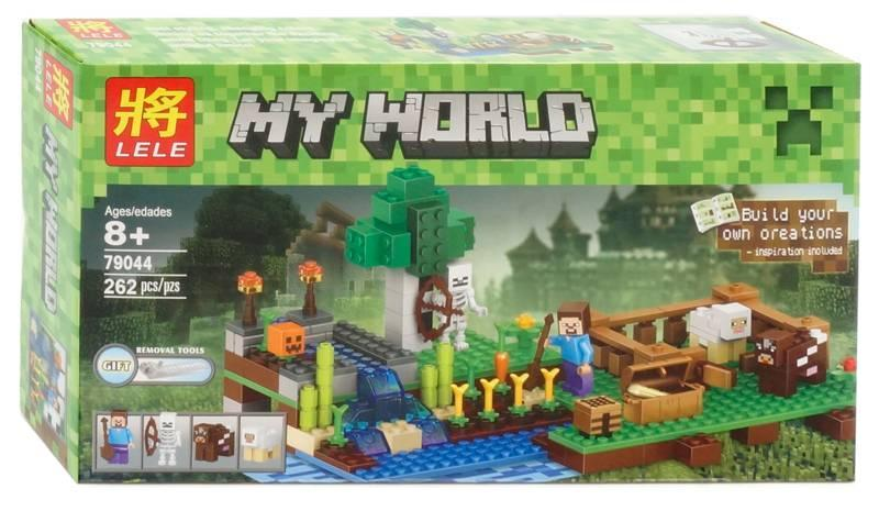 "Конструктор Майнркафт LELE My World 79044 (копия Lego Minecraft 21114) ""Ферма"", 262 дет"
