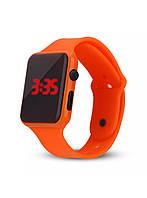 """LED наручные часы """"NovaSQ"""" с оранжевым браслетом из каучука, фото 1"""