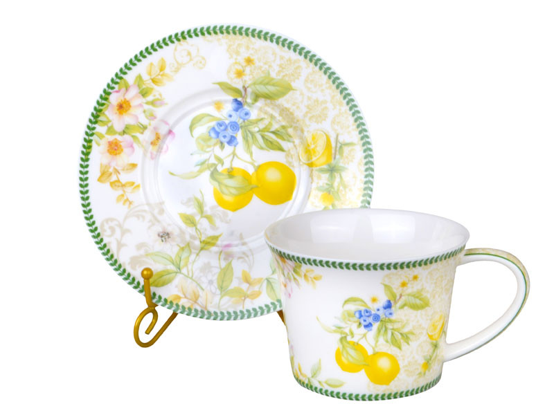 """Чайный набор 12 предметов """"Лимон"""" 220 мл, 924-372"""