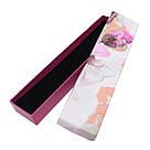 Подарочная коробочка под браслет или цепочку Орхидея 20,2*4,5*2,2 см, фото 4
