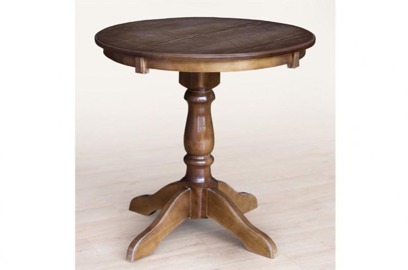 Круглый обеденный,деревянный стол -Чумак (цвет - темный орех)