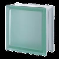 Стеклоблок зеленый гладкий матовый Verde Q19/T sat, Италия