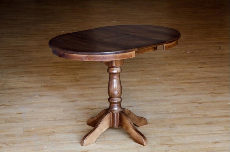 Круглый, обеденный стол, раздвижной -Чумак 2(орех)