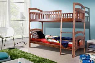 Ліжко двоярусне 80*200 в дитячу кімнату з дерева Кіра  Уют  Мікс Меблі
