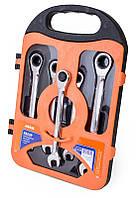 Набор ключей с трещоткой 5 шт в кейсе Miol 52-250