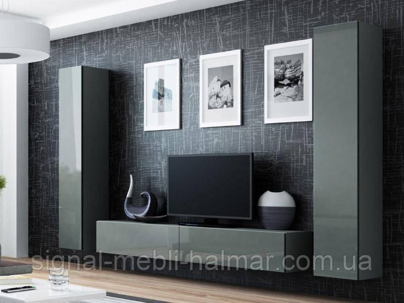 Гостиная Vigo 4 Серый мат / Серый глянец Cama