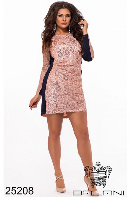 3d363de1145bc9a Вечернее коктельное мини платье с пайетками торжество фабрика Украина  Balani большой размер 48-52, цена 1 073 грн., купить в Одессе — Prom.ua  (ID#810667361)