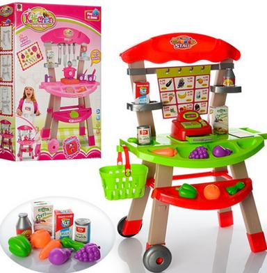 Игровой центр кухня с продуктами.Кухня игровая.Стол кухня.Игрушки для девочек.