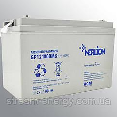 Акумулятор AGM Merlion (12В -100аг) GP121000M8
