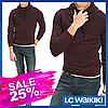 Бордовый мужской свитер LC Waikiki / ЛС Вайкики с воротником-хомут
