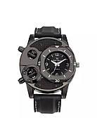 Мужские брутальные наручные часы «Total» с ремешком из каучука (черный)