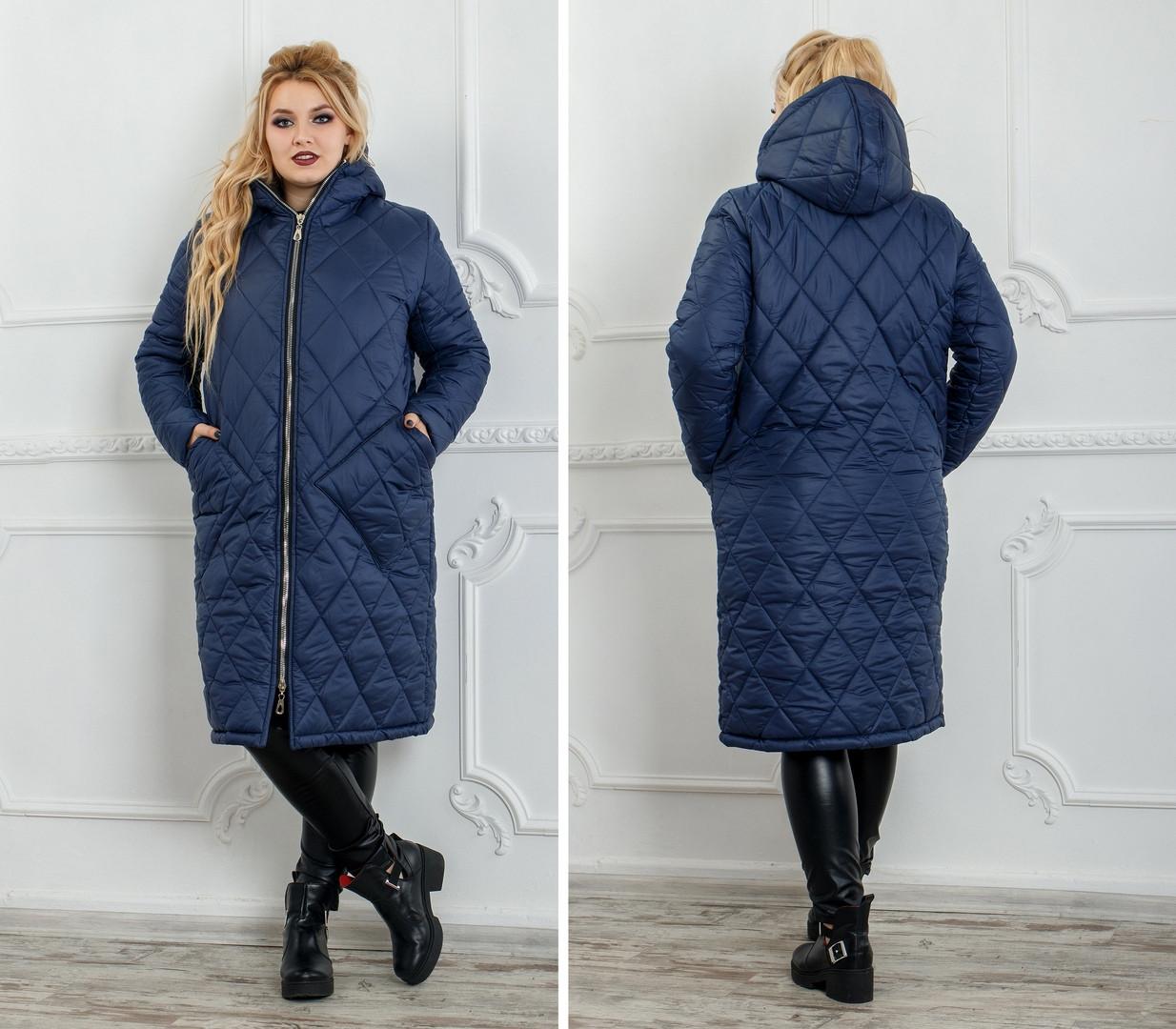 16895a2a8aa Зимнее теплое пальто плащевка стеганная на синтепоне+подкладка Размер  50-52