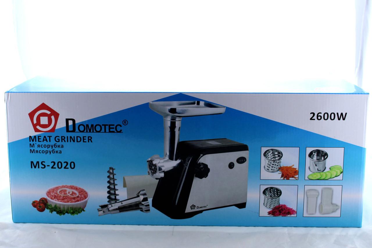 Мясорубка электрическая с соковыжималкой DOMOTEC MS 2020 \ 2600W