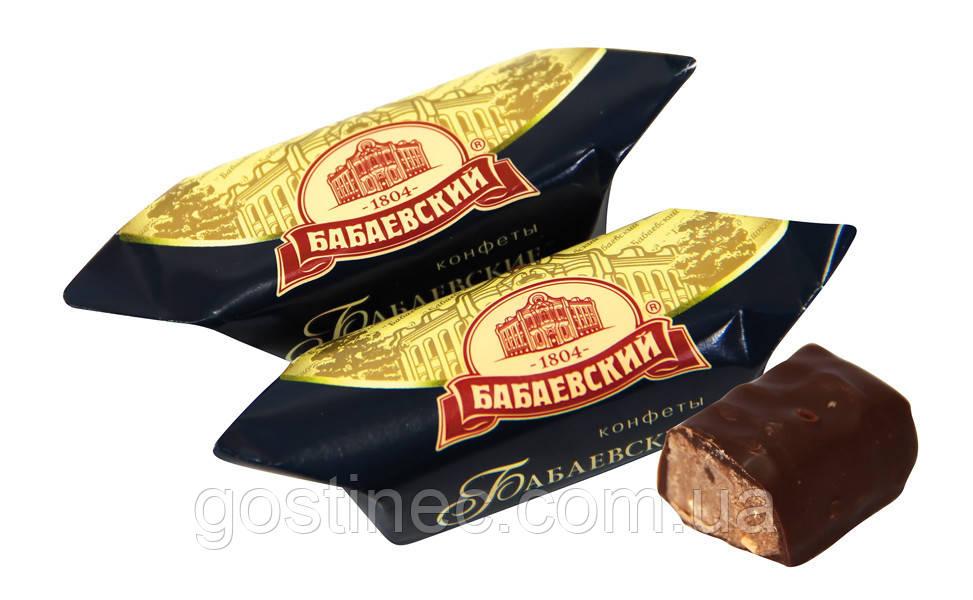 """Цукерки глазуровані шоколадною глазур'ю з корпусом праліне """"Бабаевские"""""""
