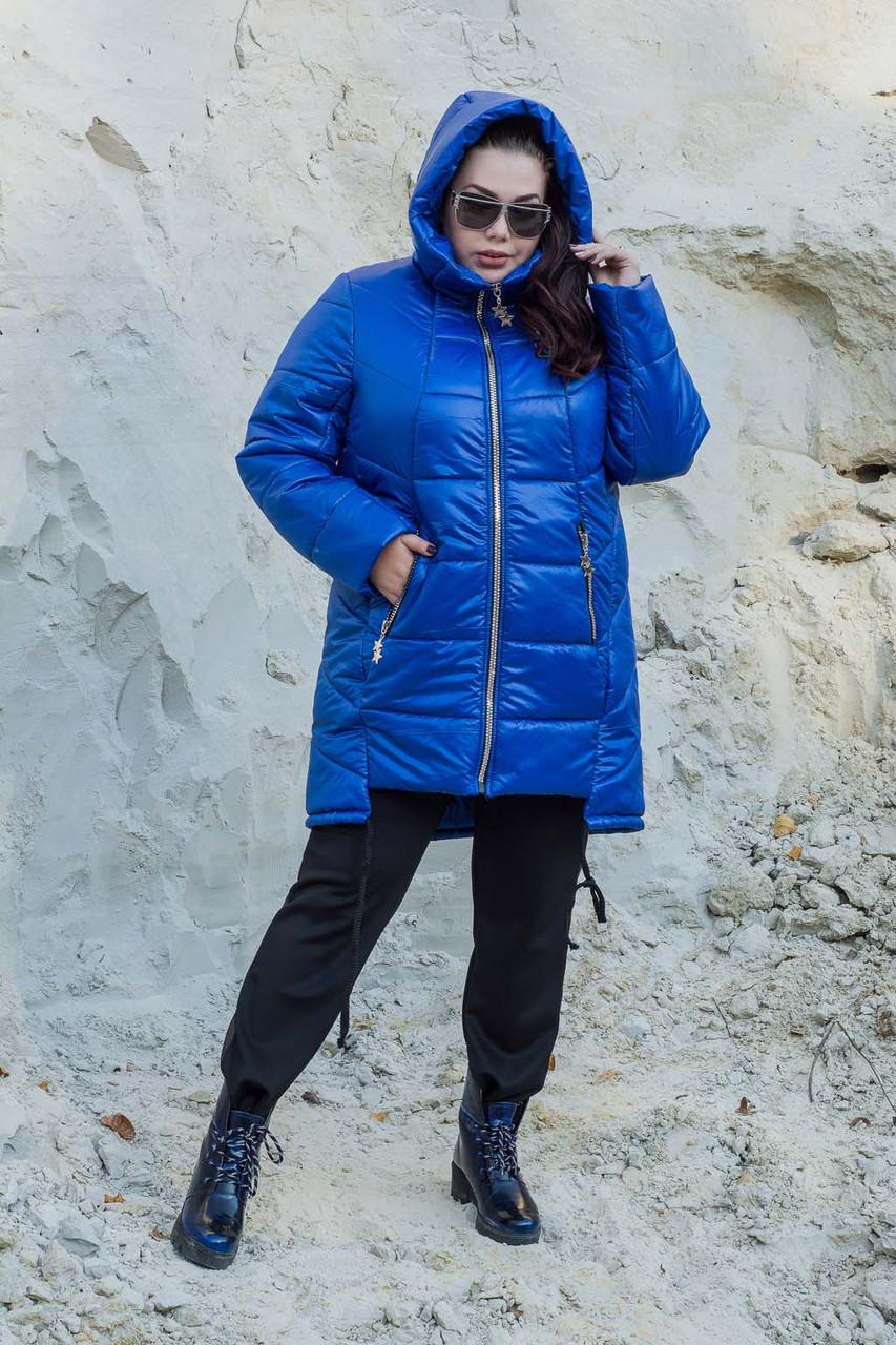 Женская стеганная зимняя куртка в больших размерах 10151156