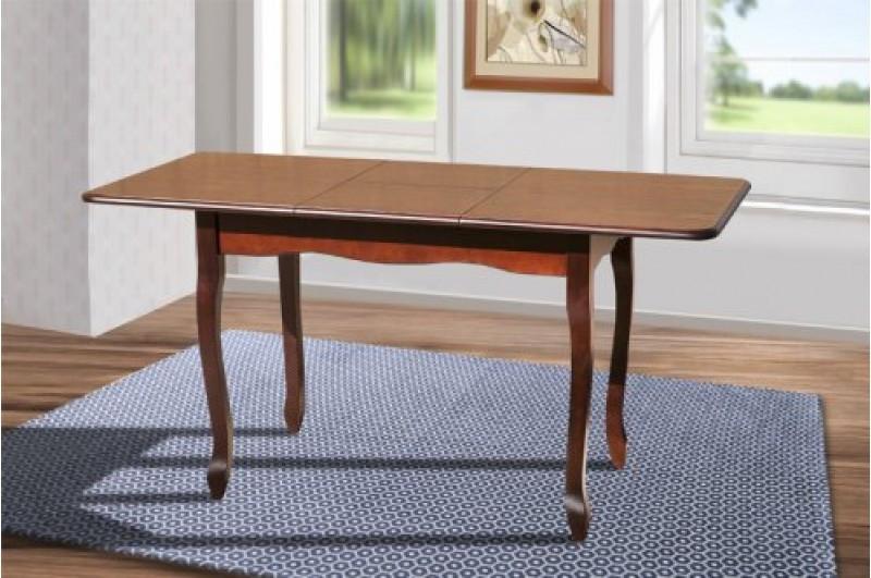 Кухонный, раздвижной стол -Лидер, из массива бука. (цвет -темный орех, молочный)