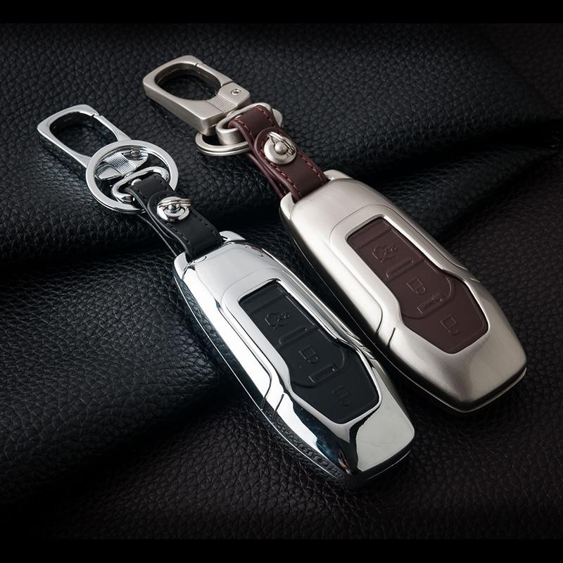 Металлический чехол для ключа Ford fiesta,B/C/S-max,Focus,Kuga Edge,Mondeo, Mustang,fusion,Explorer,Taurus