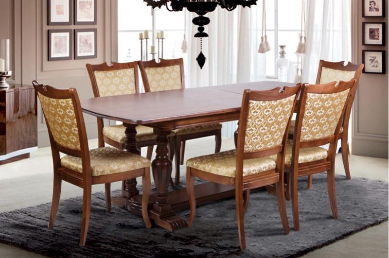 Большой обеденный стол из массива ясеня -Палермо (раздвижной)