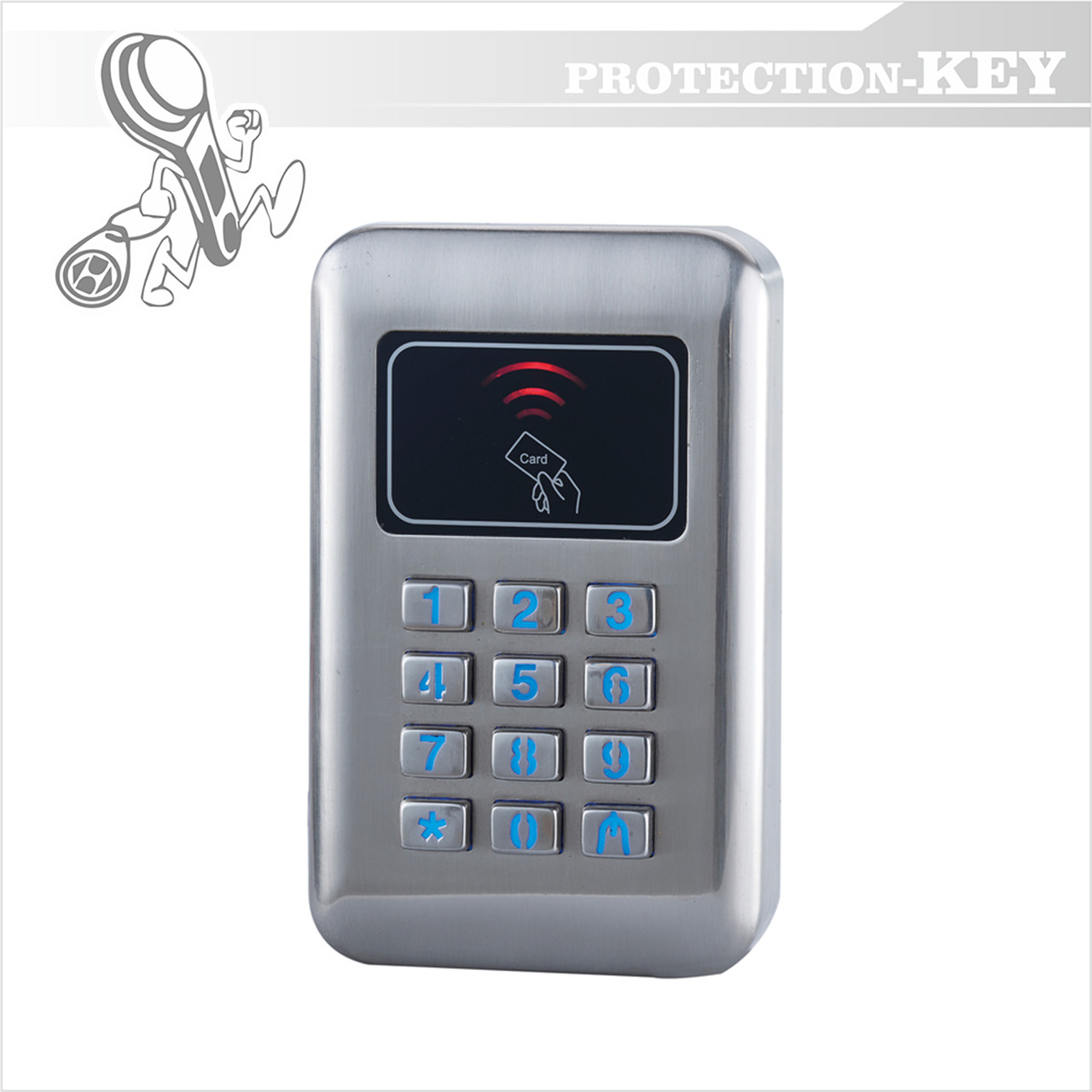 Кодовая клавиатура PK-A702MFW (13.56 mHz) внешняя