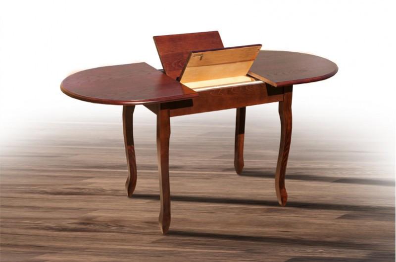 Стол обеденный из массива дерева - Фараон.  Овальный. Раскладной. (цвет - венге, орех)